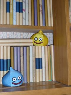 本棚にスライム